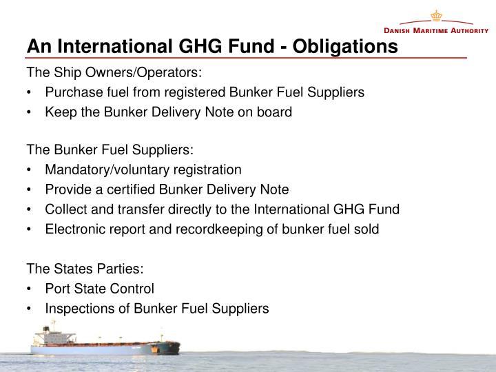 An International GHG Fund - Obligations