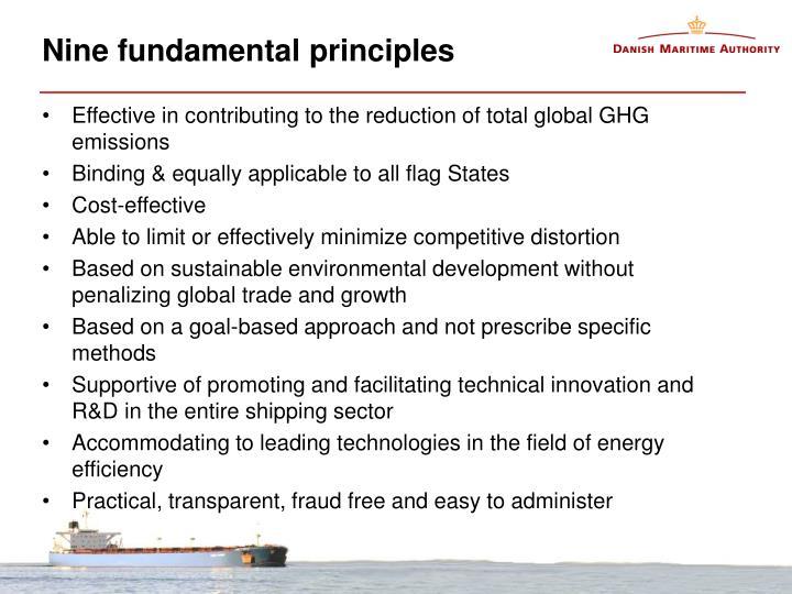 Nine fundamental principles