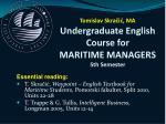 tomislav skra i ma undergraduate english course for mari time managers 5th semester