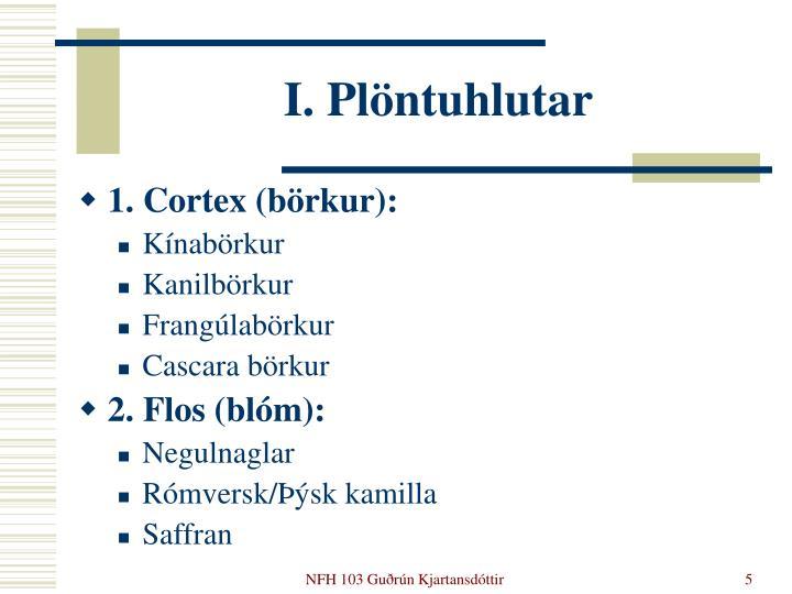I. Plöntuhlutar