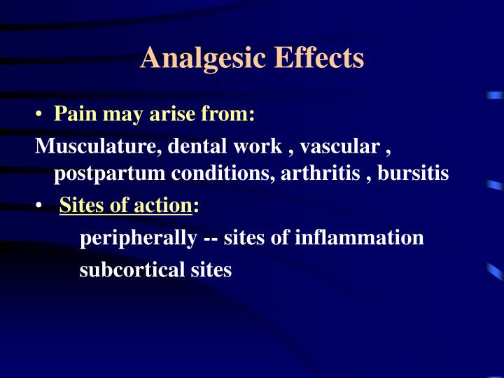Analgesic Effects