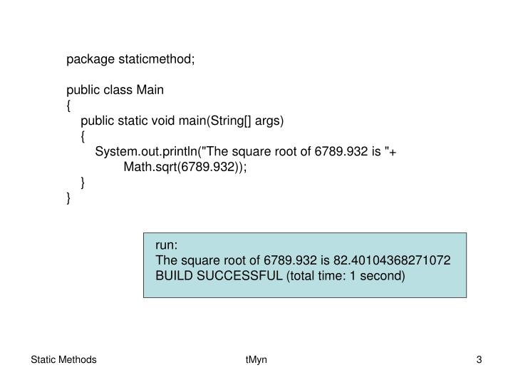 package staticmethod;