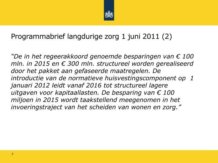 Programmabrief langdurige zorg 1 juni 2011 (2)