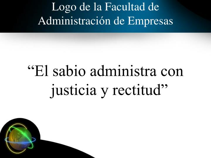 Logo de la Facultad de Administraci