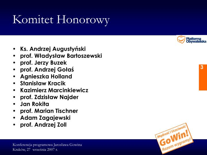 Komitet honorowy