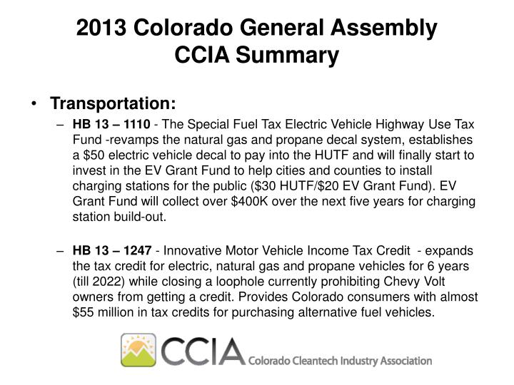 2013 Colorado General Assembly