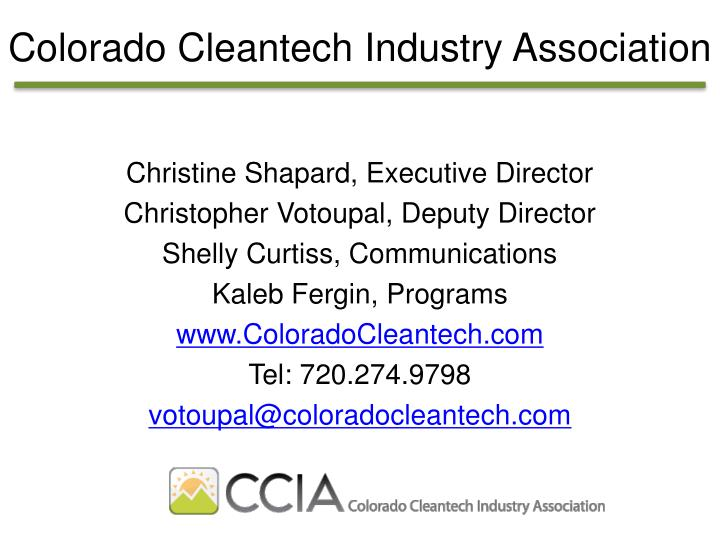 Colorado Cleantech Industry Association