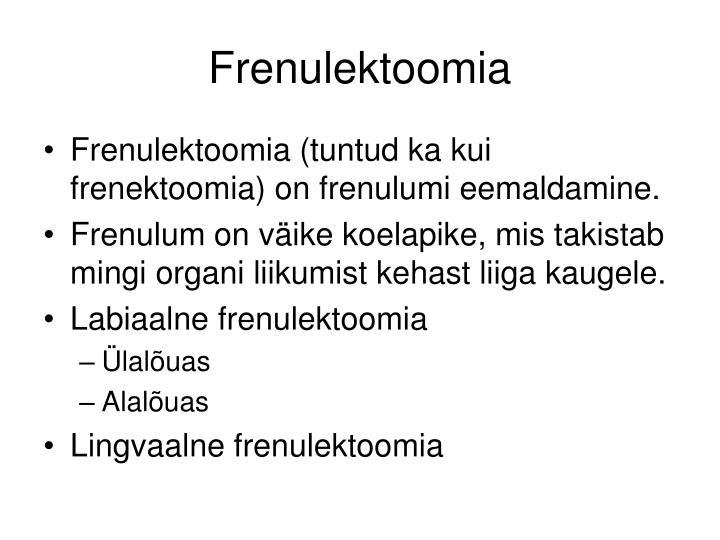Frenulektoomia