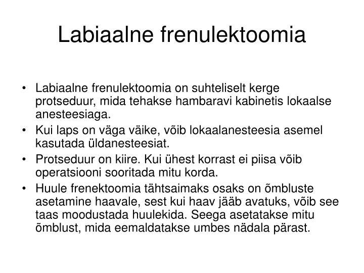 Labiaalne frenulektoomia