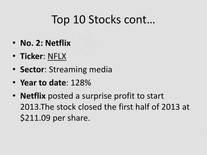 Top 10 Stocks cont…