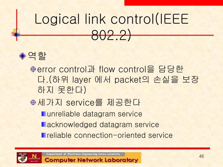 Logical link control(IEEE 802.2)