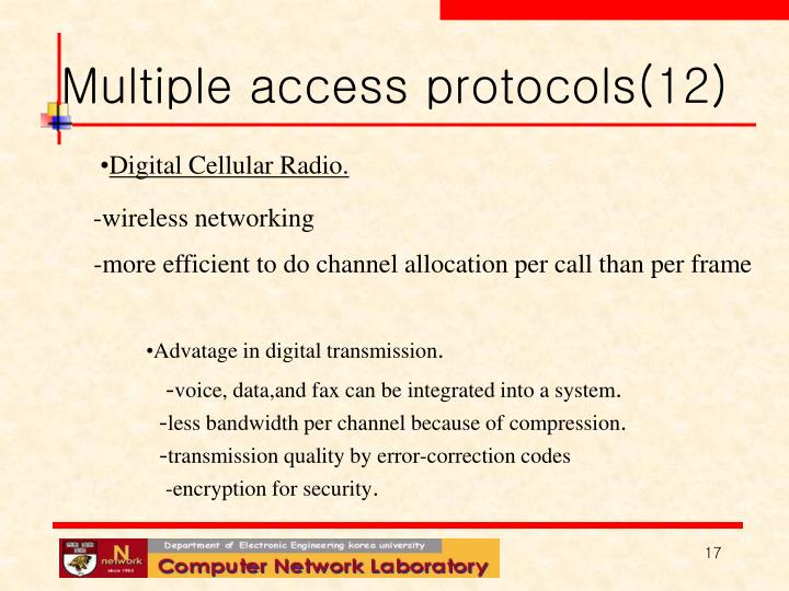 Multiple access protocols(12)