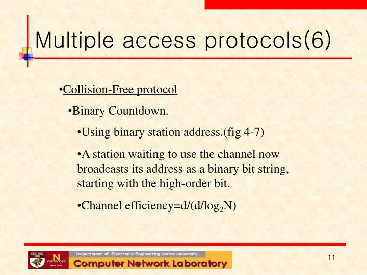 Multiple access protocols(6)
