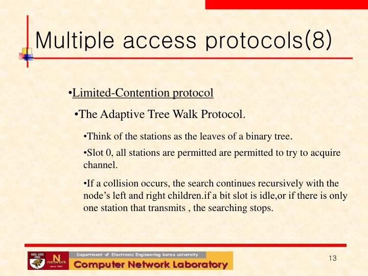 Multiple access protocols(8)