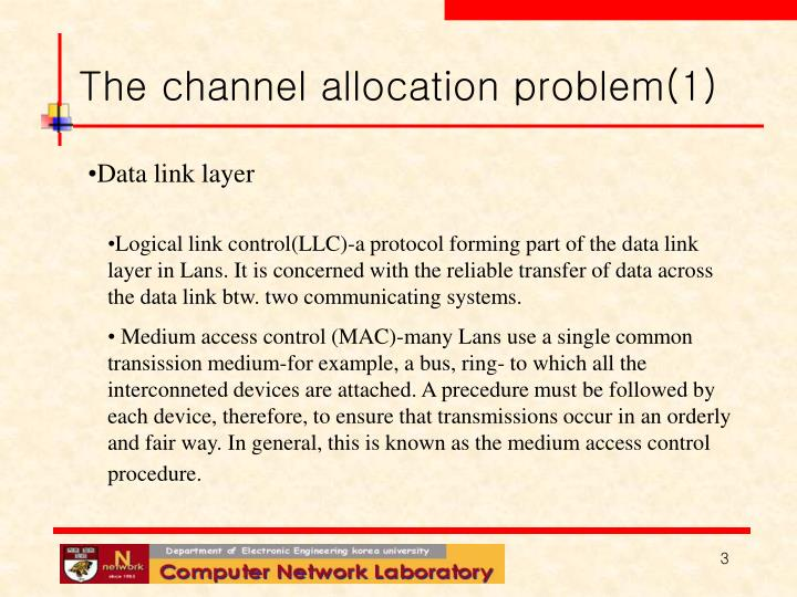 The channel allocation problem 1