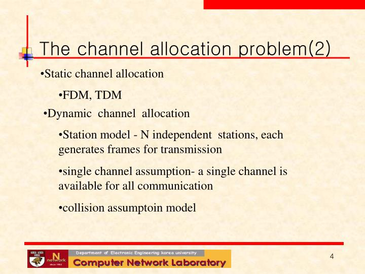The channel allocation problem(2)