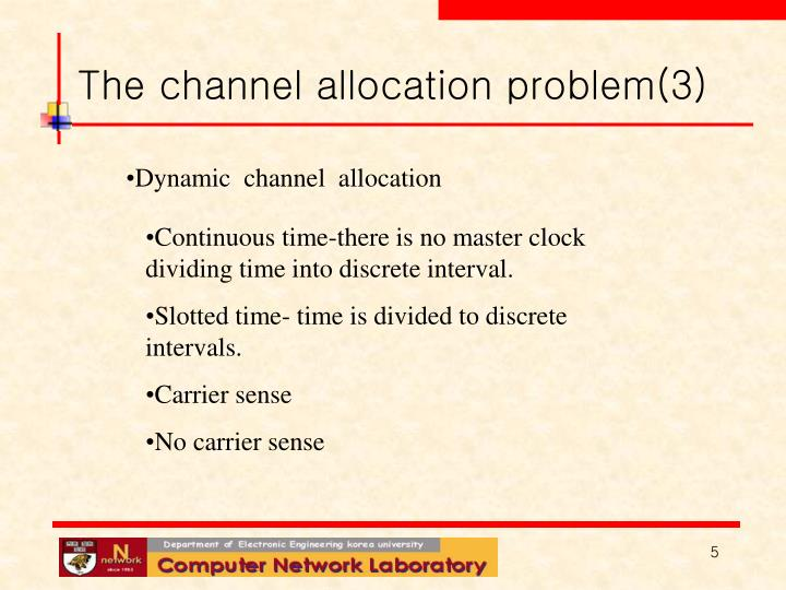 The channel allocation problem(3)