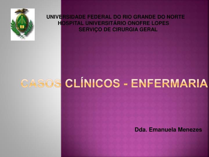 Casos Clínicos - Enfermaria