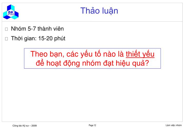Thảo luận