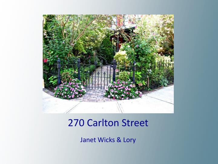 270 Carlton Street