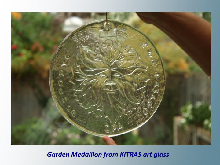 Garden Medallion from KITRAS art glass
