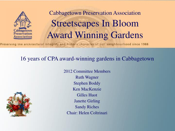 Cabbagetown Preservation Association