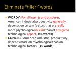 eliminate filler words