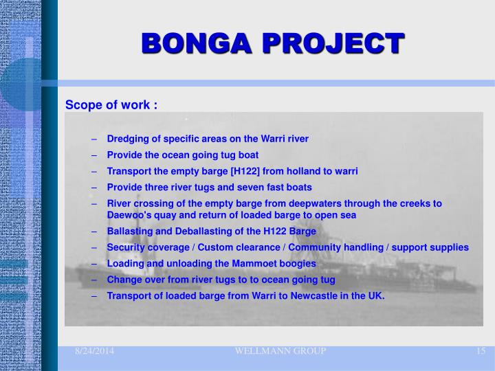 BONGA PROJECT