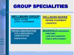 group specialities