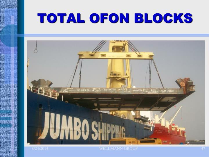 TOTAL OFON BLOCKS