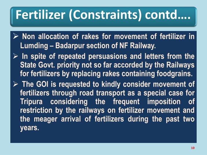 Fertilizer (Constraints)