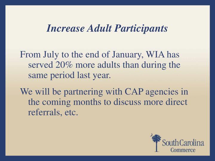 Increase Adult Participants