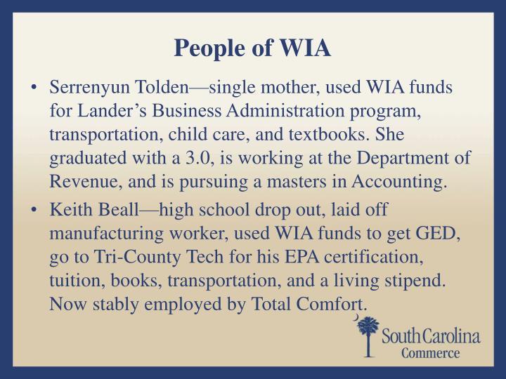 People of WIA
