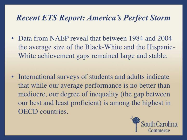 Recent ETS Report: America's Perfect Storm