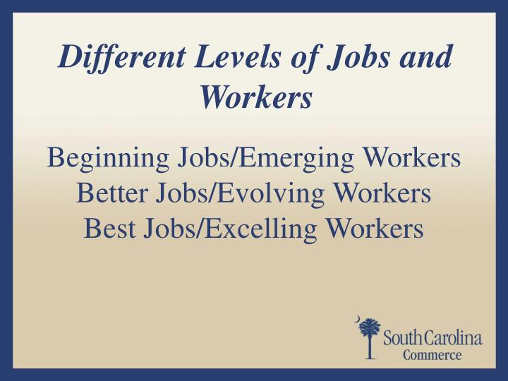 Different Levels of Jobs and Workers