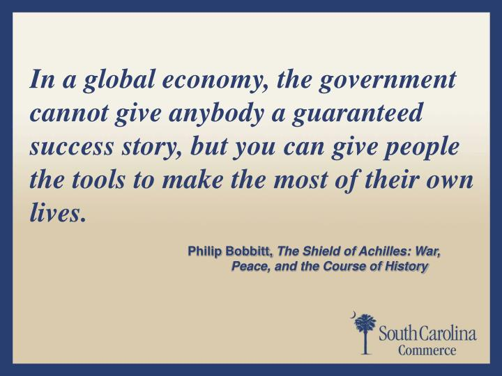 In a global economy, the government