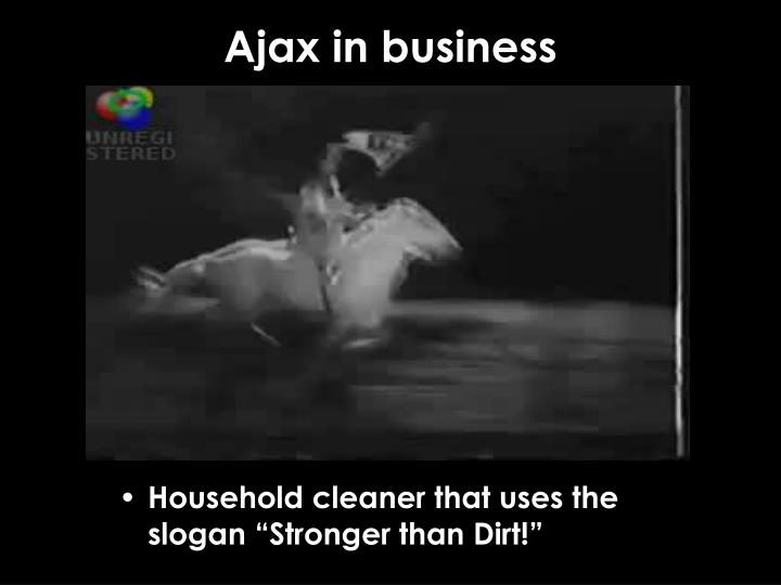 Ajax in business