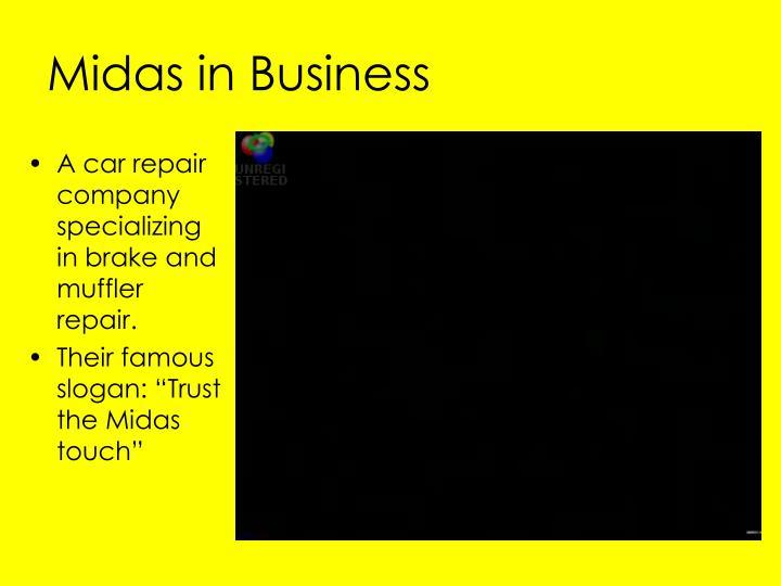 Midas in Business