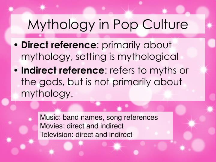 Mythology in Pop Culture
