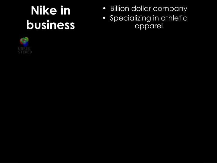 Nike in business