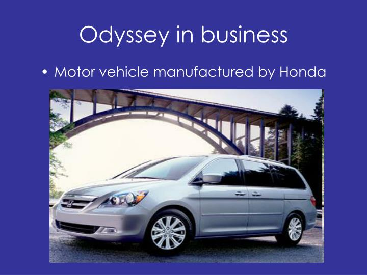 Odyssey in business