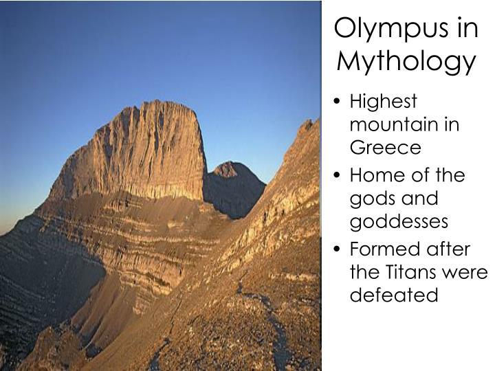 Olympus in Mythology