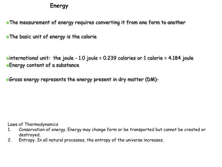 The measurement of energy requires converting it from one form to another