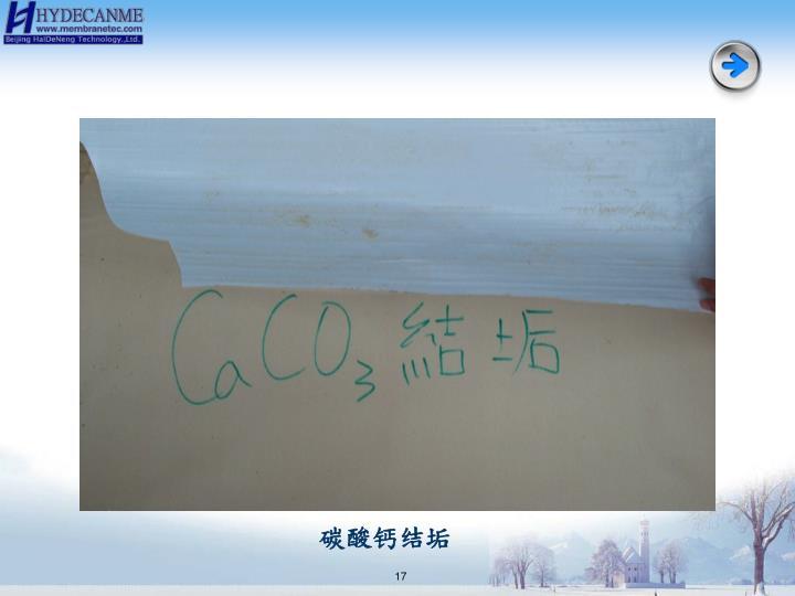 碳酸钙结垢