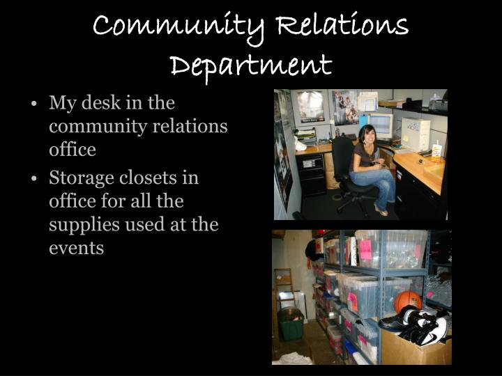 Community Relations Department