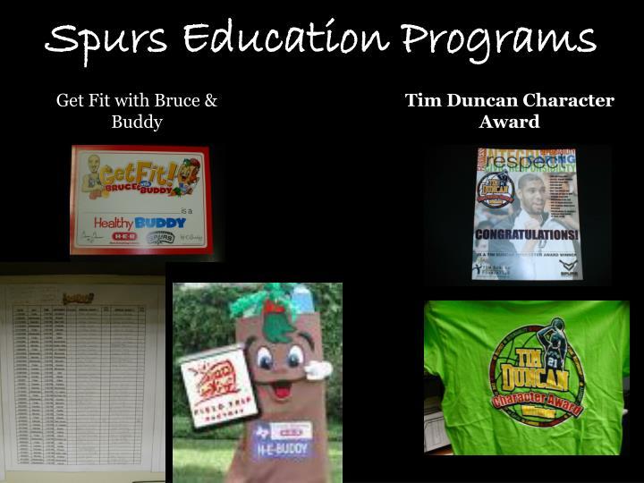 Spurs Education Programs