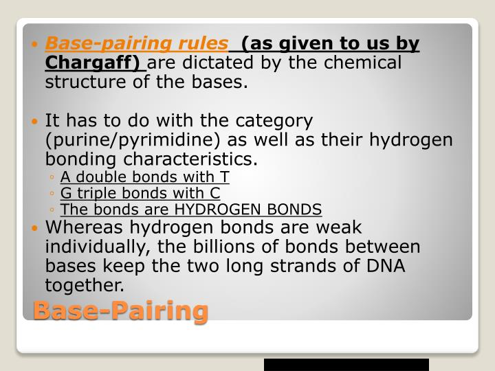 Base-pairing rules