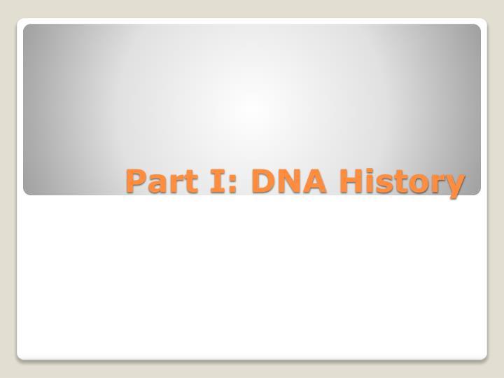 Part I: DNA History