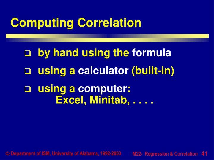 Computing Correlation