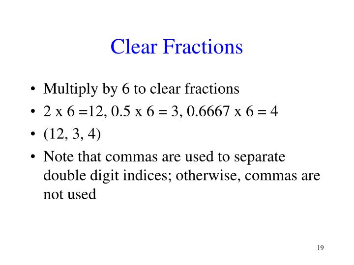 Clear Fractions